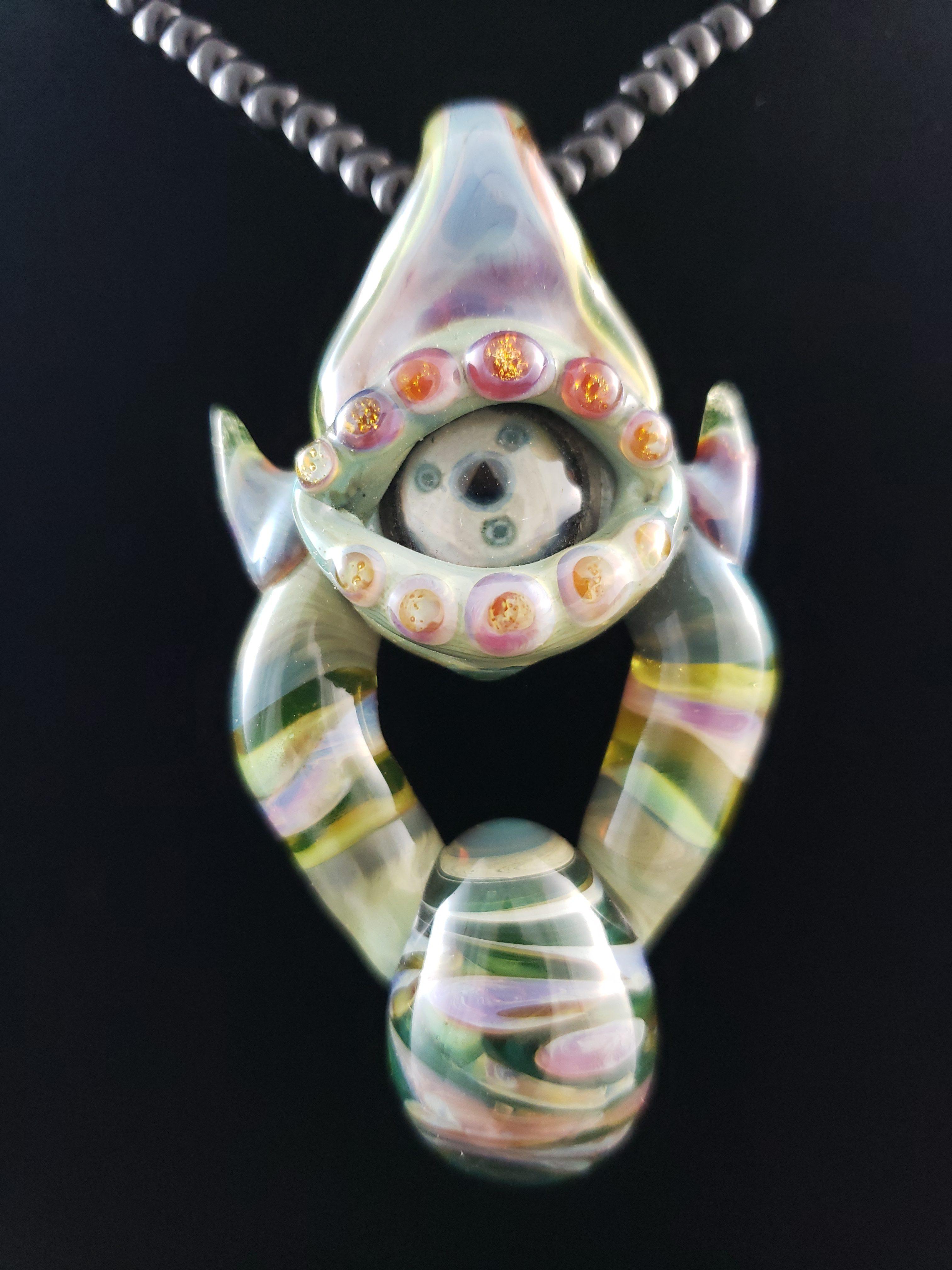 Handblown Glass Eye Pendants